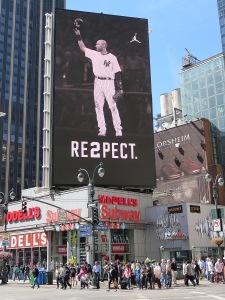 Derek Jeter poster proudly displayed in NYC